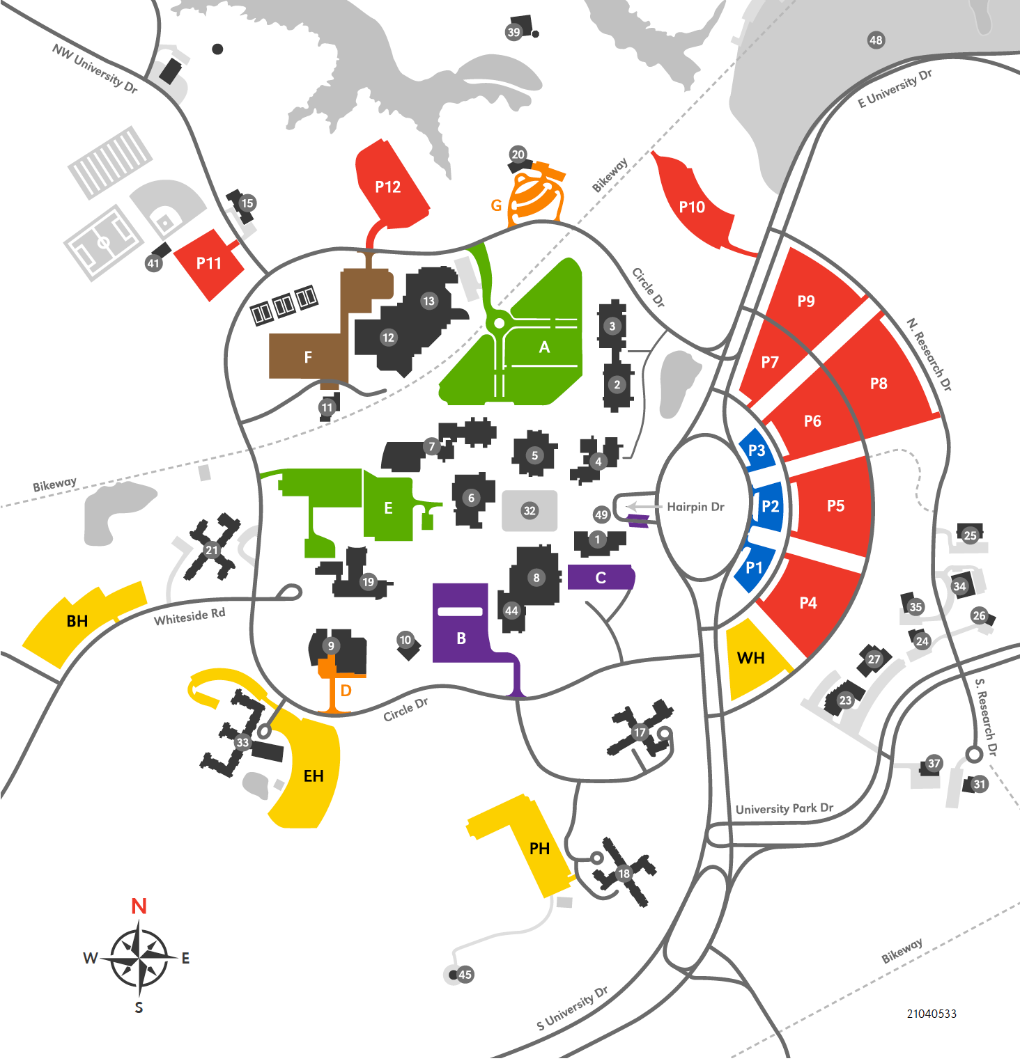 SIUE Parking Map